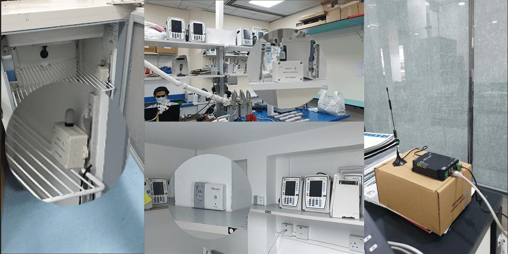 laboratory-temp-humidity-PIR-deployment